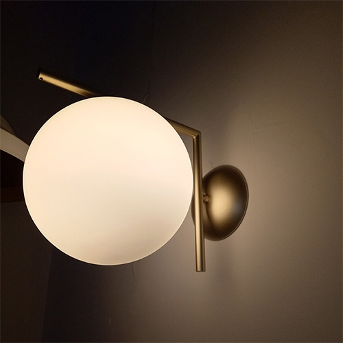 FLOS IC LIGHTS Glass Chrome Wall Lamp – One Two modern lighting factory