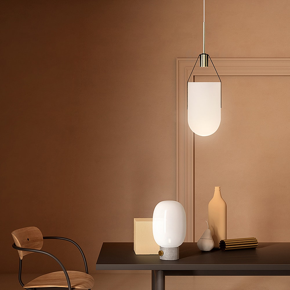 Allied Maker Arc Well Pendant Lamp White One Two Modern